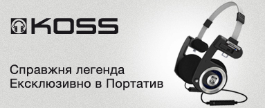 Баннер в меню наушники Porta Pro wireless