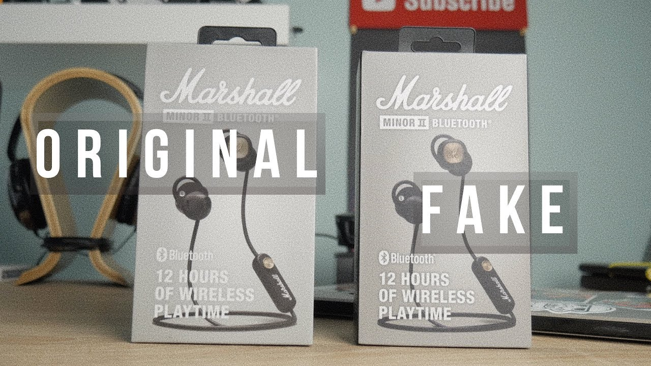 Marshall Minor II Bluetooth | Подделка vs оригинал, сравнение копии с подлинными Marshall Minor II