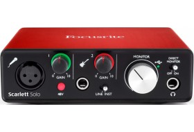 Мини-студия Focusrite Scarlett Solo NEW для начинающих