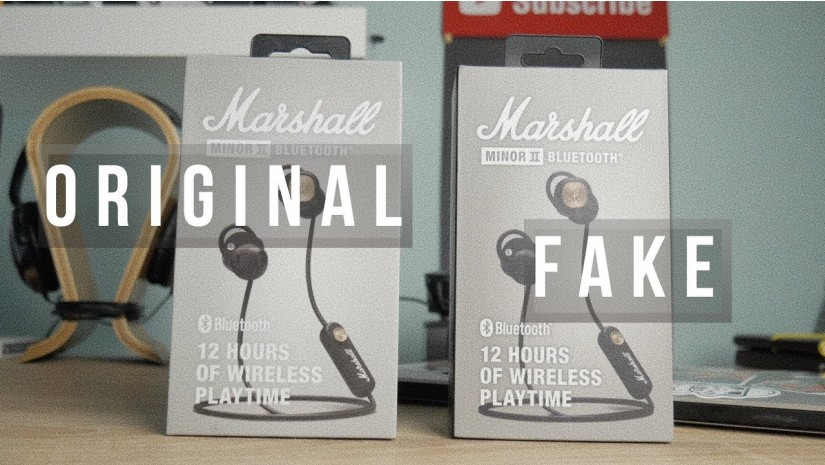 Marshall Minor II Bluetooth   Подделка vs оригинал, сравнение копии с подлинными Marshall Minor II