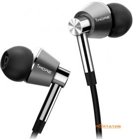 1More Triple Driver In-Ear Headphones Silver (E1001-SILVER)