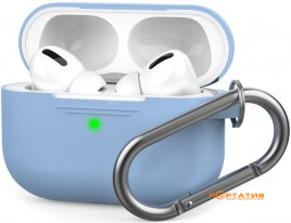 AHASTYLE Silicone Case with Carabiner for Apple AirPods Pro Sky Blue (AHA-0P100-SBL)