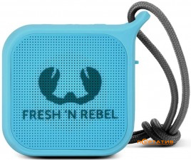 Fresh N Rebel Rockbox Pebble Small Bluetooth Speaker Sky