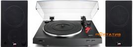 Audio-Technica AT-LP3BK + PSB Alpha AM3