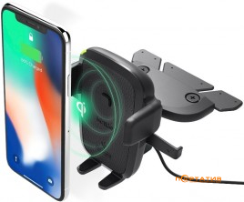 iOttie Easy One Touch 4 Qi Wireless Charging CD Mount (HLCRIO136AM)
