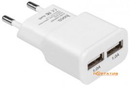 СЗУ Hoco 2USB UH202 Smart White (2.1A) White