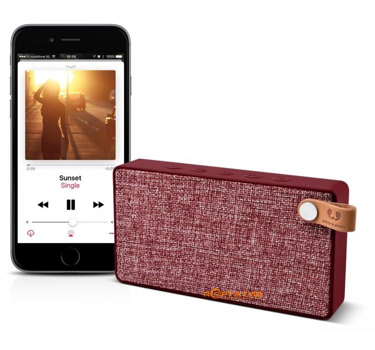 Fresh N Rebel Rockbox Slice Fabriq Edition Bluetooth Speaker Ruby
