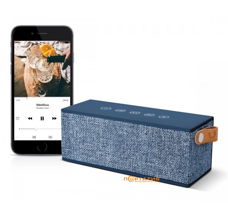Fresh N Rebel Rockbox Brick Fabriq Edition Bluetooth Speaker Indigo