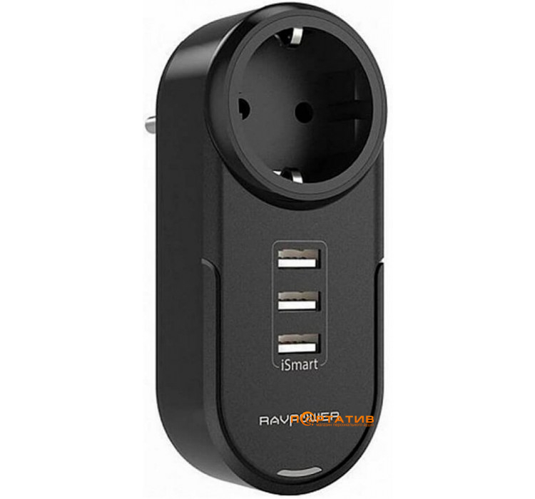 RavPower Power Strip 4-in-1 Mini Surge Protector iSmart 2.0 Black (RP-PC003BK)