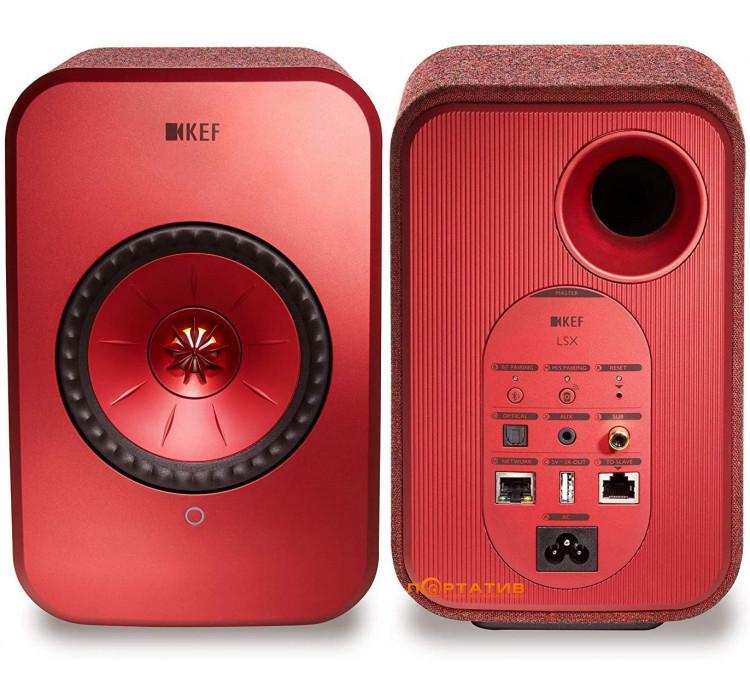 KEF LSX Wireless Maroon