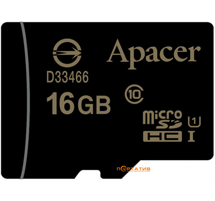 Apacer microSDHC 16Gb UHS-I Class10 (AP16GMCSH10U1-RA)