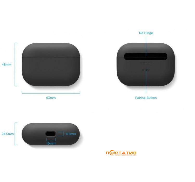 Elago Liquid Hybrid Case for Airpods Pro Black (EAPPRH-BK)