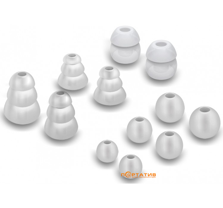 MEE Audio Eartips Combo Set Clear (6 pair TS6-CMB-35-CL)