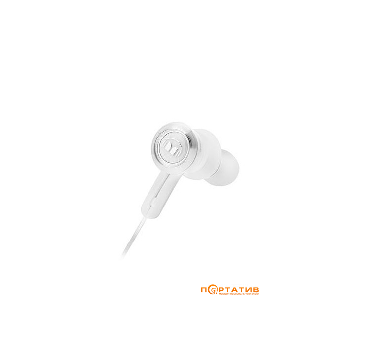 Monster Clarity HD In-Ear Bluetooth White and Chrome (MNS-137031-00)