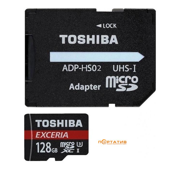 Toshiba microSDXC 128GB Exceria M203 High Speed + SD Adapter (THN-M203K1280EA)