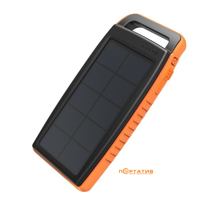 RavPower Outdoor Solar Charger 15000mAh IPX4 DC5V/2A Input Black/Orange (RP-PB003)