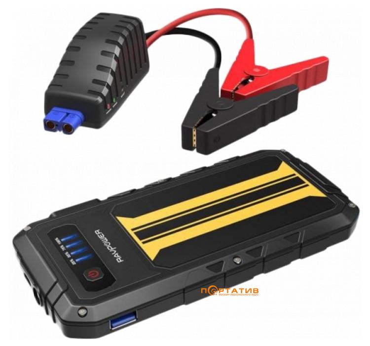 RavPower Car Jump Starter 8000mAh 300A Peak Current Quick Charge 3.0 Black/Yellow (RP-PB007)