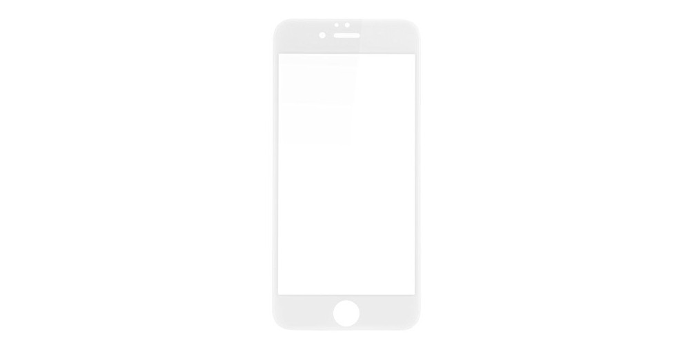 Baseus iPhone 6/6S/7/8 Silk-Screen Protection Tempered Glass Film 0.23mm (Narrow Side Type) White