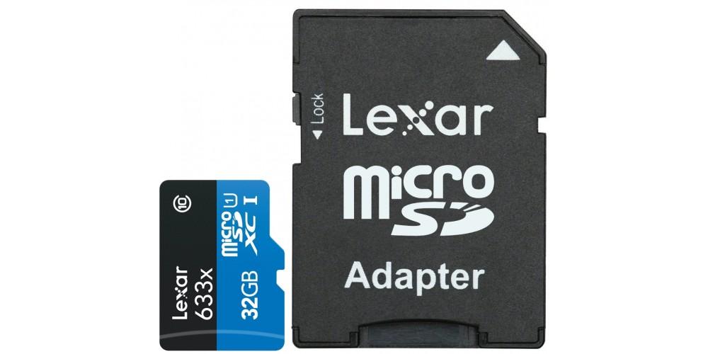 Lexar 32 GB Micro SDHC 633x UHS-I C10 High-Performance + SD-адаптер (LSDMI32GBBEU63)