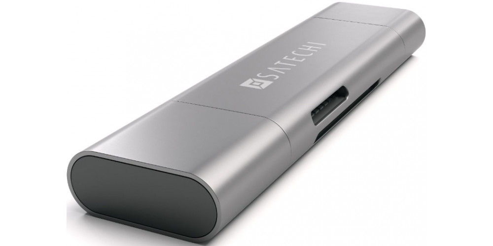 Satechi Aluminum Type-C USB 3.0 and Micro/SD Card Reader Space Gray (ST-TCCRAM)