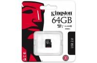 Карты памяти и кардридеры Kingston 64 GB microSDXC Class 10 UHS-I SDC10G2/64GB-SP