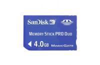Карты памяти и кардридеры SanDisk Memory Stick Pro Duo 4Gb