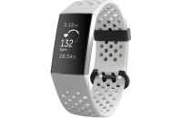 Фитнес -трекеры Fitbit Charge 3 Fitness Activity Tracker Small/Large Frost White Sport/Graphite Aluminum (FB410GMWT)