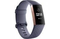 Фитнес -трекеры Fitbit Charge 3 Fitness Activity Tracker Small/Large Blue Grey/Rose Gold Aluminum (FB409RGGY)