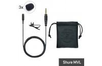 Аксессуары для диктофонов и микрофонов Ветрозащита AES Shure MVL 3 шт.