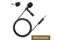 Аксессуары для диктофонов и микрофонов Ветрозащита AES Rode SmartLav 3 шт.