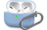Аксессуары для наушников AHASTYLE Silicone Case with Carabiner for Apple AirPods Pro Sky Blue (AHA-0P100-SBL)