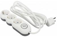 Кабели и удлинители 2E Extension Cord with Toggle 3 Sockets 3G*1.0 мм 3 m White (2E-U03VES3M)