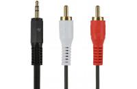 Кабели аудио-видео 2E MiniJack 3.5mm - AUX Cable 1 m Black (2E-W33291M)