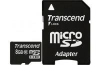 Карты памяти и кардридеры Transcend 8GB MicroSDHC (Clas10)