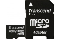 Карты памяти и кардридеры Transcend microSDHC 8GB Class10 (TS8GUSDC10)