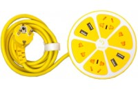 Кабели и удлинители Sigma mobile Smart Fruit PS-44 Lemon (4AC + 4smart USB, 1,8m)