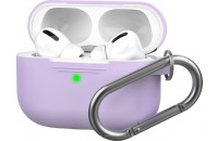 Наушники AHASTYLE Silicone Case with Carabiner for Apple AirPods Pro Lavender (AHA-0P100-LVR)