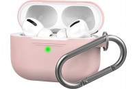 Наушники AHASTYLE Silicone Case with Carabiner for Apple AirPods Pro Pink (AHA-0P100-PNK)