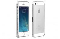Аксессуары для мобильных телефонов iBacks iPhone 5/5S Cameo Bumper Heart Series Silver (IP50217)