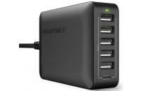 Кабели и зарядные уст-ва RavPower 6 Port USB Type C Wall Charger iSmart 2.0 Black (RP-PC033BK)