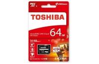 Карты памяти и кардридеры Toshiba 64 GB microSD Exceria M301 (THN-M301R0640EA)