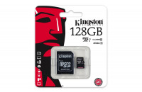 Карты памяти и кардридеры Kingston 128 GB microSDXC Class 10 UHS-I + SD Adapter SDC10G2/128GB