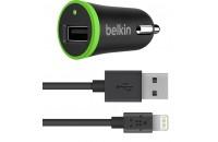 Кабели и зарядные уст-ва Belkin USB BoostUp Charger 2.4Amp w Lightening Cable 1.2 m Black (F8J121bt04-BLK)