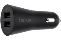 Кабели и зарядные уст-ва Belkin USB Dual Metallic 2.4Amp 24W Black (F8M930btBLK)