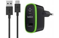 Кабели и зарядные уст-ва Belkin USB Home Charger 2.1Amp w USB-C to USB-A Cable 1.8 m Black (F7U001vf06-BLK)