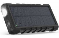 Кабели и зарядные уст-ва RavPower 25000mAh Solar Charger Power Bank Outdoor Shock Dust and Waterproof Black (RP-PB083)
