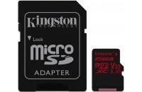 Карты памяти и кардридеры Kingston microSDXC 256GB UHS-I U3 Canvas React + SD Adapter (SDCR/256GB)