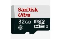 Диктофоны SanDisk microSDHC 32GB Ultra UHS-I + SD Adapter (SDSQUNS-032G-GN3MA)
