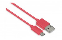 Кабели, зарядные уст-ва, аккумуляторы Kit USB 2.0 Micro USB Charge cable 1m Coral (8600USBDATCOKT)
