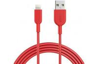 Кабели и зарядные уст-ва Anker Powerline II Lightning - 0.9 m V3 Red (A8432H91)
